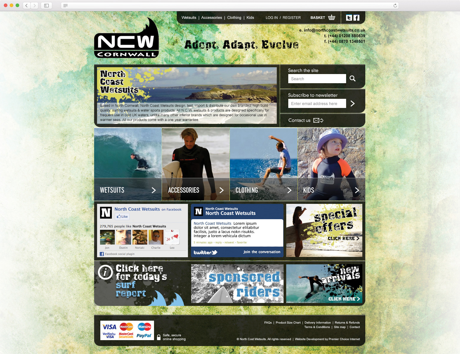 North Coast Wetsuits website